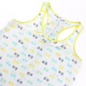Candie's Women's L Large Bicycle Bike Tank Top